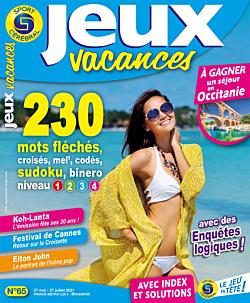 Jeux Vacances N°65