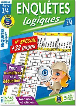 Enquêtes logiques Niveau 3/4 - Numéro 45